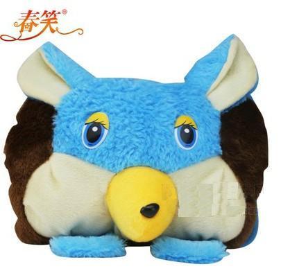 赔本促销『春笑牌』CX-KT06卡通毛绒双插手电热水袋 蓝色兔