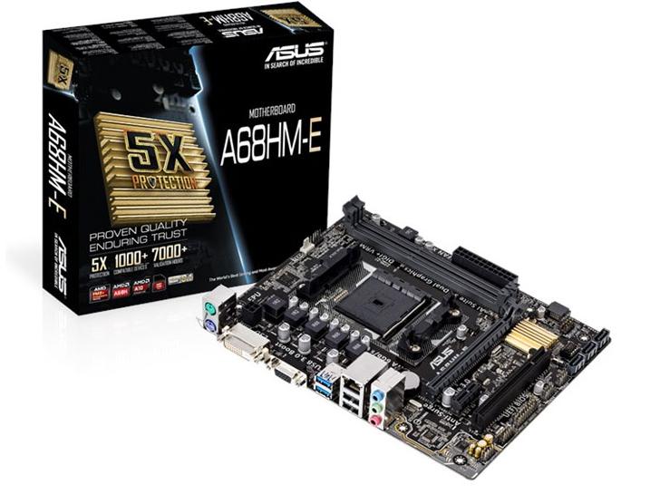 华硕A68HM-E/-K混发 FM2接口带一个PCI槽 全固态 主持cpu860K 7650