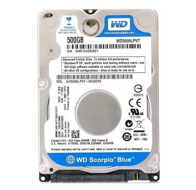 西部数据WD5000LPVX 500G-1T 笔记本硬盘 串口蓝盘正品