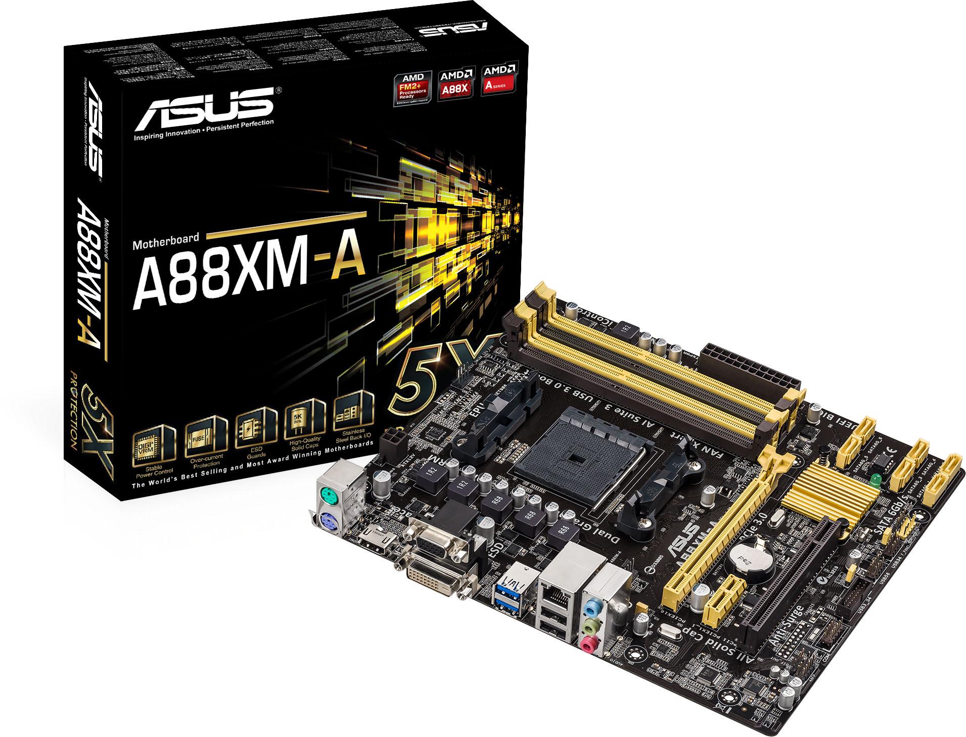 华硕 A88XM-A安全达人 FM2/FM2+接口 全固主板